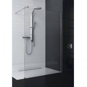 Cabina walk-in , Sticla Transparenta, Profil Crom,200X120X100 cm, Aquaform
