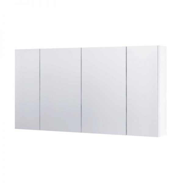 Dulap cu oglinda, Aquaform, Amsterdam, 120 cm, alb, inchidere silentioasa