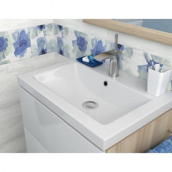 Lavoar pe mobilier, 80 cm, Cersanit, Como