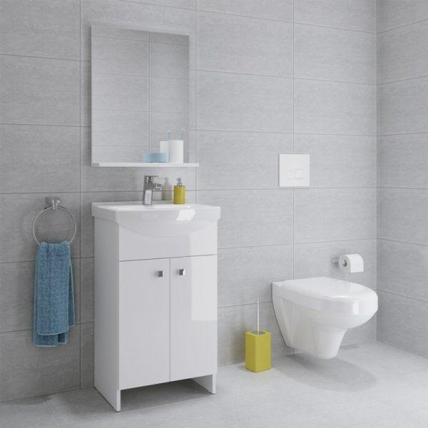 Cersanit, Sati, set compus din mobilier cu 2 usi + picioare + lavoar 51 x 38 cm