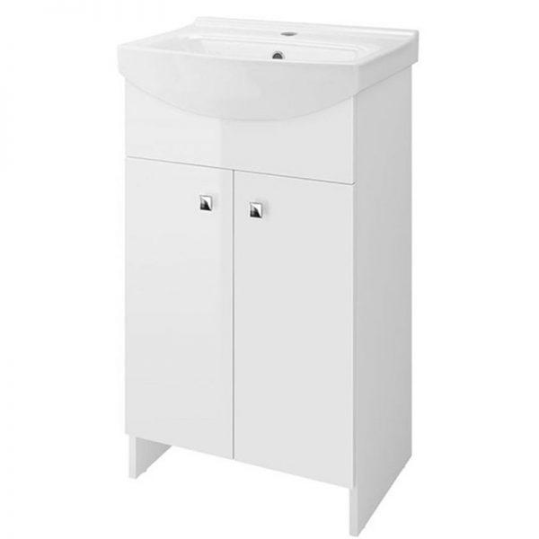 Cersanit, Sati, set compus din mobilier cu 2 usi + picioare + lavoar 60,5 x 41,5 cm