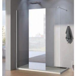 Paravan de dus, profil crom, sticla transparenta, 100 x 200 cm, Pur