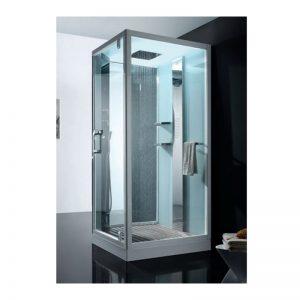 Cabina de dus patrata, sticla transparenta, 100 x 100 cm, Focus