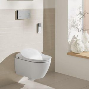 Vas WC suspendat, pentru capac cu functie de bideu ViClean, alb, Subway 2.0