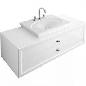 Lavoar glazurat pe dedesubt pt blat/mobilier, alb, Villeroy&Boch, La Belle