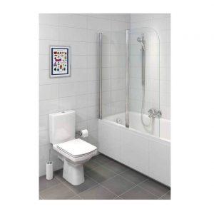 Vas WC monobloc cu rezervor, alimentare inferioara, alb, Easy