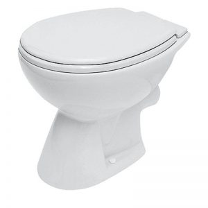 Vas WC stativ, cu iesire laterala, alb, Roma New