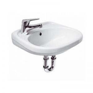 Lavoar suspendat 45 cm, de stanga, alb, Roma