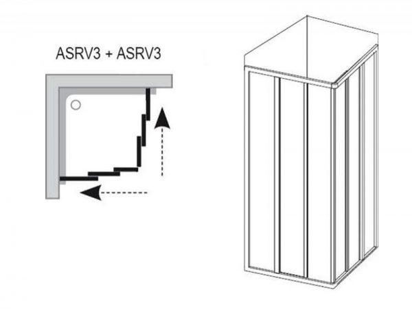 Set cabina Supernova, ASRV3 + cadita Kaskada Angela LA + sifon Basic