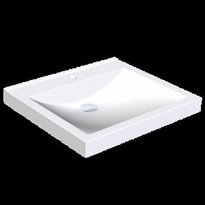 Lavoar dreptunghiular cu 1 cuva, fara preaplin, 60 x 53 cm, Quadro