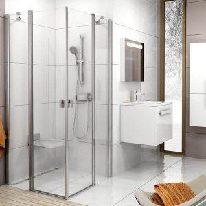 Cabină de duş rectangulară , Lucios+Transparent (1 parte), Ravak, CRV2-90