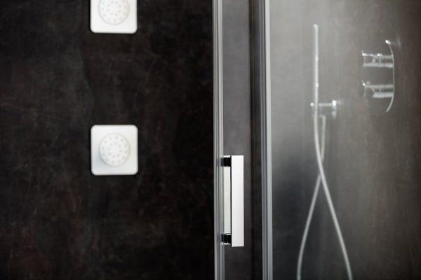 Cabina de dus, Ravak, MSDPS-120x80 cm, dreapta, aluminiu lucios+Transparent